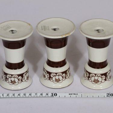 Arabia Katrilli munakupit, ruskea, 3 kpl, suunnittelija Esteri Tomula, serikuva kuva 2