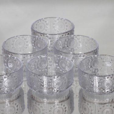 Riihimäen lasi Grapponia jälkiruokakulhot, kirkas, 6 kpl, suunnittelija Nanny Still,