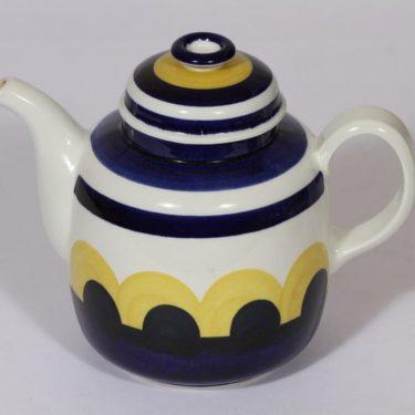 Arabia Paju kahvikaadin, 1 l, suunnittelija Anja Jaatinen-Winquist, 1 l, Käsinmaalatturetro, käsinmaalattu
