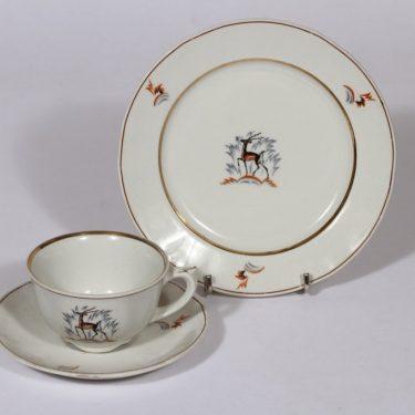 Arabia Kauris kahvikuppi ja lautanen, suunnittelija , siirtokuva