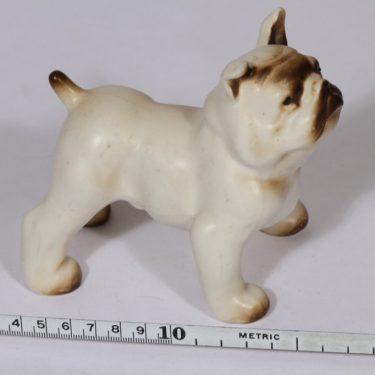 Arabia eläinfiguuri, Buldoggi K 50, suunnittelija Lea von Mickwitz, Buldoggi K 50, käsinmaalattu kuva 2