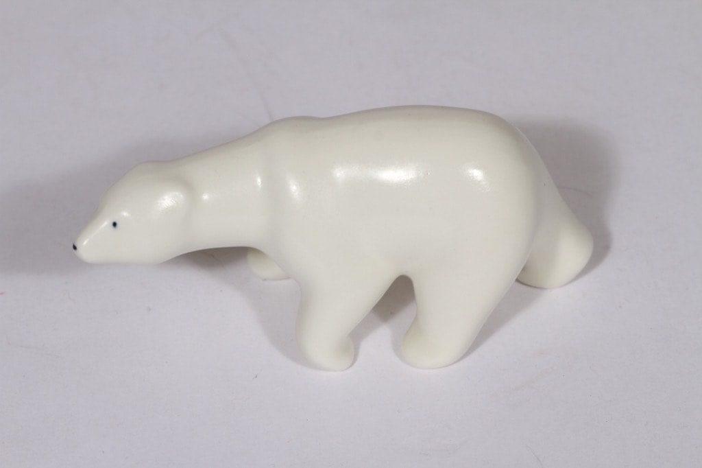 Arabia eläinfiguuri, jääkarhu, suunnittelija Raili Eerola, jääkarhu