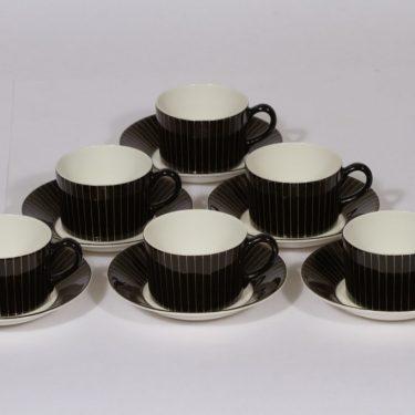 Arabia Kultasäde kahvikupit, 10 cl, 6 kpl, suunnittelija , 10 cl, viivakoriste, kullattu