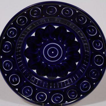 Arabia Valencia hedelmävati, sininen, suunnittelija , suuri, käsinmaalattu, signeerattu