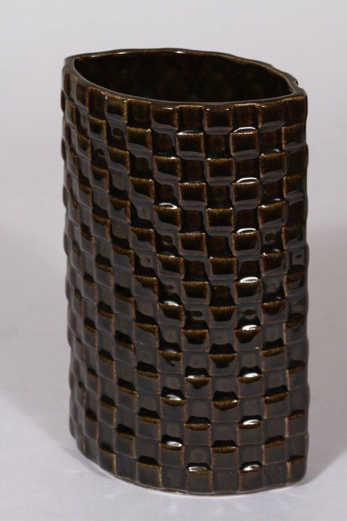 Arabia Harlekiini maljakko, ruskea, suunnittelija ,
