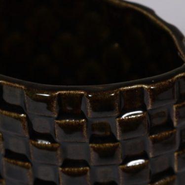 Arabia Harlekiini maljakko, ruskea, suunnittelija ,  kuva 2