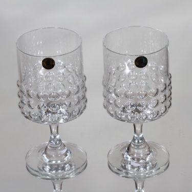Riihimäen lasi Grappo valkoviinilasit, kirkas, 2 kpl, suunnittelija Nanny Still,