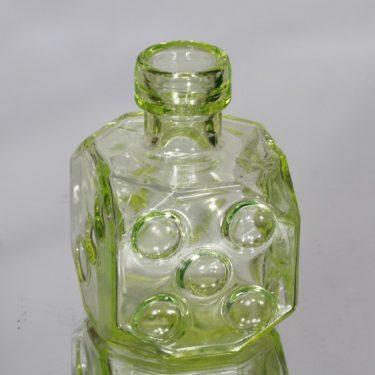 Riihimäen lasi Arpa on heitetty koristepullo, keltainen, suunnittelija Erkkitapio Siiroinen, pieni