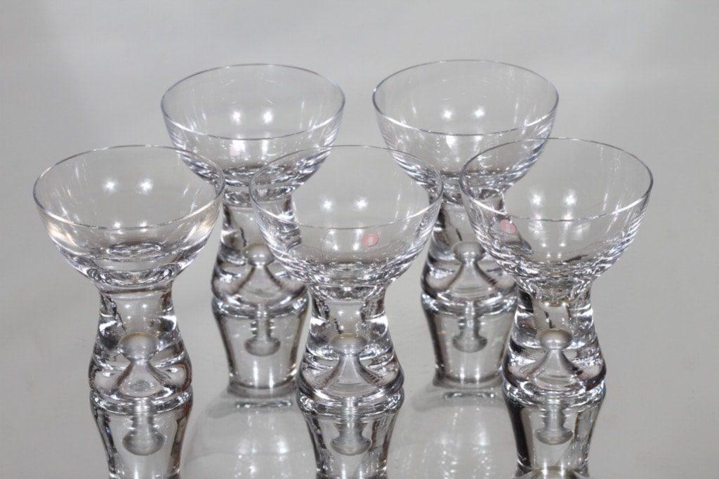 Iittala Tapio lasit, 8 cl, 5 kpl, suunnittelija Tapio Wirkkala, 8 cl