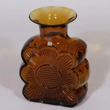 Riihimäen lasi Amuletti maljakko, ruskea, suunnittelija Tamara Aladin,