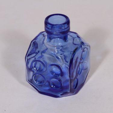 Riihimäen lasi Arpa on heitetty koristepullo, sininen, suunnittelija Erkkitapio Siiroinen, pieni