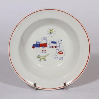 Arabia Touhu lasten lautanen, syvä, suunnittelija , syvä, serikuva