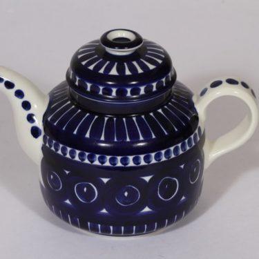 Arabia Valencia kahvikaadin, sininen, suunnittelija Ulla Procope, käsinmaalattu, signeerattu