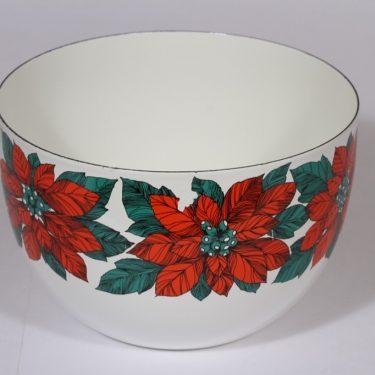 Finel Joulutähti kulho, punainen, suunnittelija , serikuva, kukka-aihe