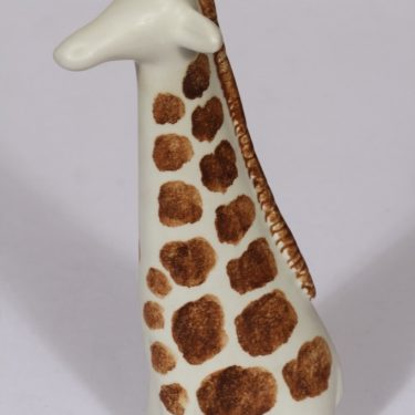 Arabia figuuri, kirahvi, suunnittelija Taisto Kaasinen, kirahvi, käsinmaalattu