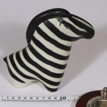 Arabia figuuri, seepra, suunnittelija Taisto Kaasinen, seepra, käsinmaalattu kuva 2