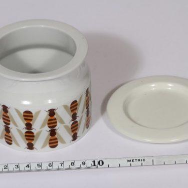 Arabia Pomona purnukka, hunaja, suunnittelija Raija Uosikkinen, hunaja, serikuva, retro kuva 2
