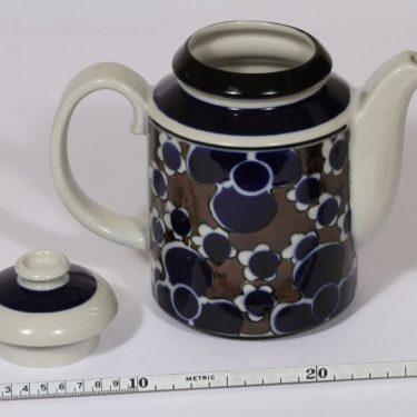 Arabia Saara kahvikaadin, 1 l, suunnittelija Anja Jaatinen-Winquist, 1 l, erikoiskoriste, retro kuva 2