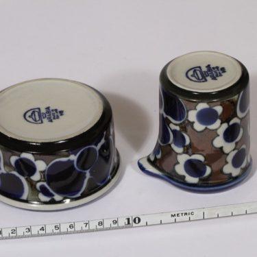 Arabia Saara sokerikko ja kermakko, sininen, suunnittelija Anja Jaatinen-Winquist, erikoiskoriste, retro kuva 2