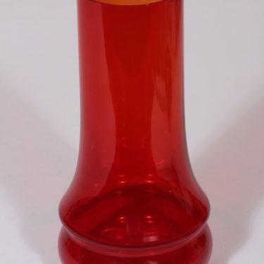 Riihimäen lasi Sirkka maljakko, punainen, suunnittelija Tamara Aladin,
