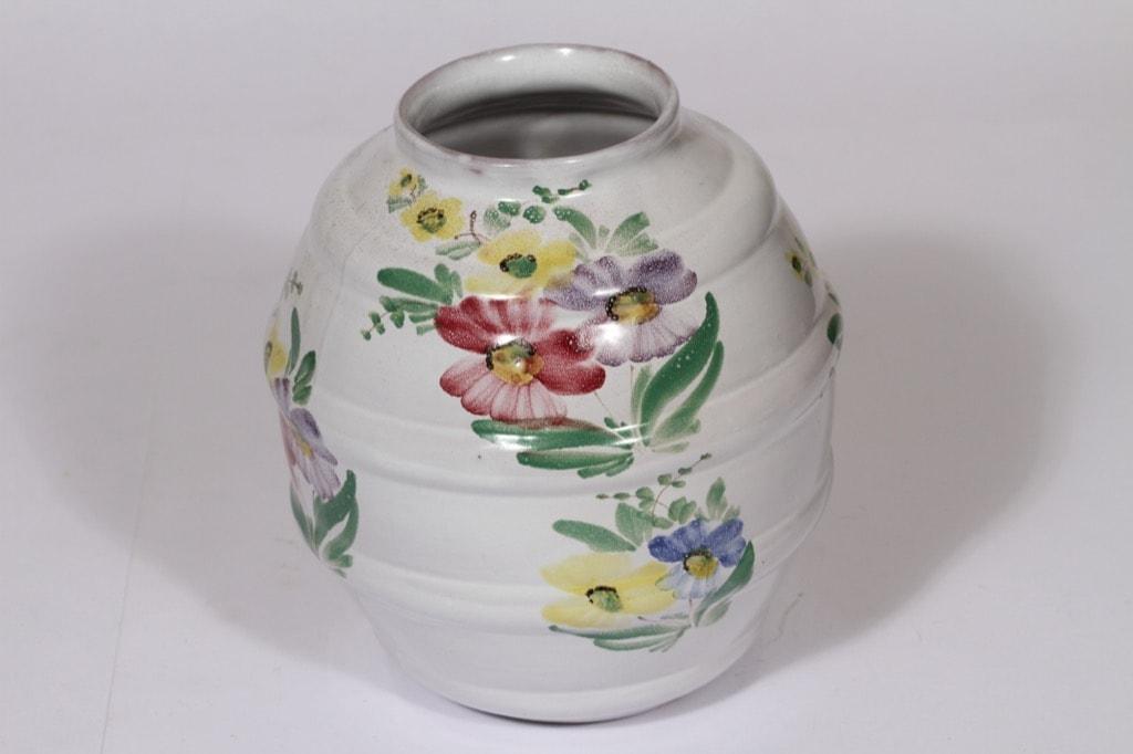 Arabia ARA maljakko, kukka-aihe, suunnittelija , kukka-aihe, suuri, käsinmaalattu