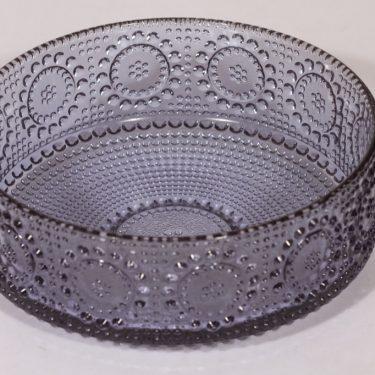Riihimäen lasi Grapponia kulho, siniharmaa, suunnittelija Nanny Still,