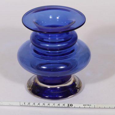 Riihimäen lasi Tornado maljakko, sininen, suunnittelija Tamara Aladin, signeerattu kuva 2