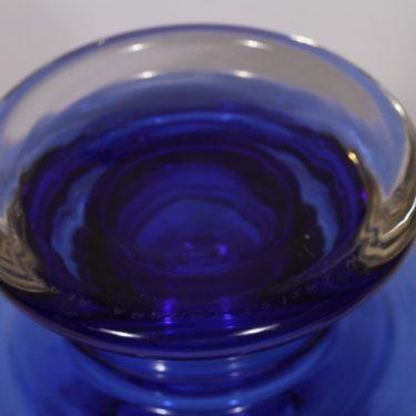 Riihimäen lasi Tornado maljakko, sininen, suunnittelija Tamara Aladin, signeerattu kuva 3