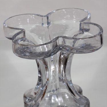 Riihimäki glass, Onnenlehti vase, clear, Helena Tynell 3
