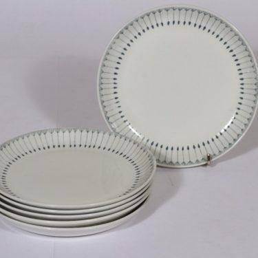 Arabia Heini lautaset, pieni, 6 kpl, suunnittelija , pieni, kuparipainokoriste