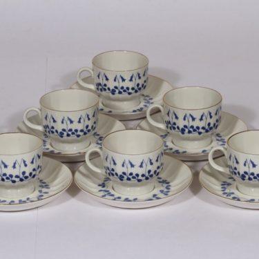 Arabia Vanamo kahvikupit, serikuva, 6 kpl, suunnittelija , serikuva, ornamentti