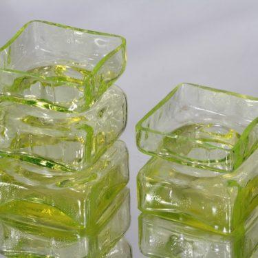 Riihimäen lasi Pala maljakot, eri kokoja, 2 kpl, suunnittelija Helena Tynell, eri kokoja