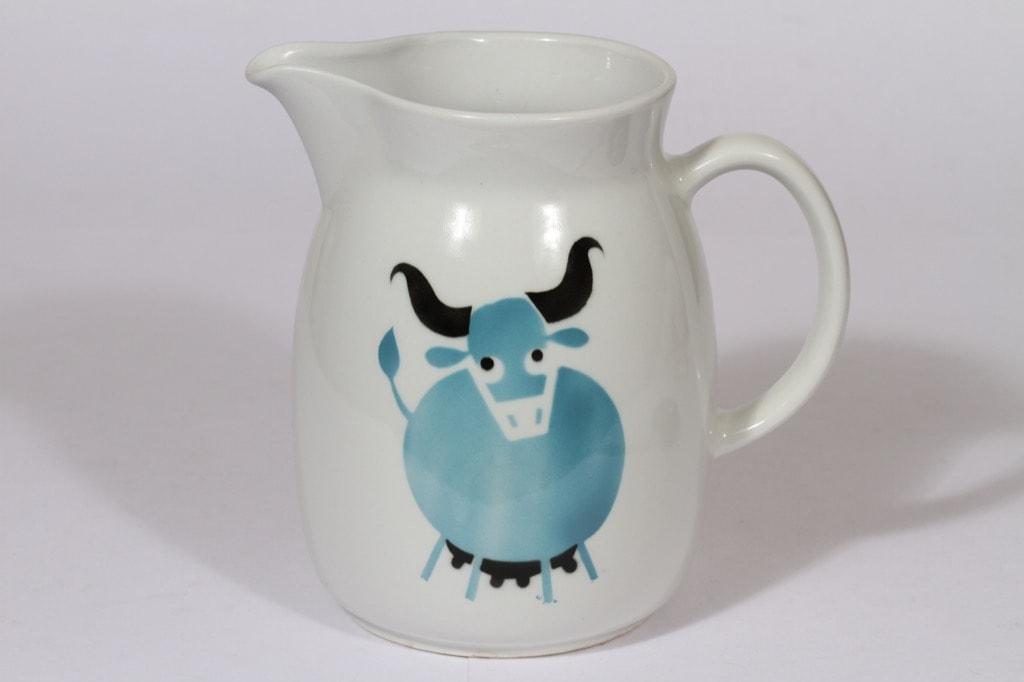 Arabia Heluna kaadin, 2 l, suunnittelija , 2 l, lehmäaihe, suuri, puhalluskoriste
