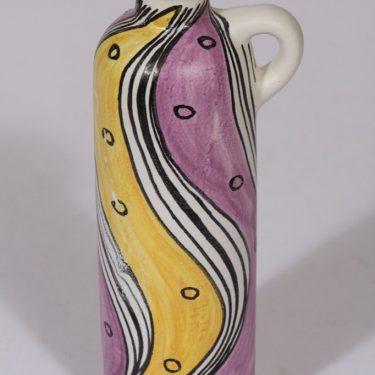 Kupittaan savi 130 maljakko, käsinmaalattu, suunnittelija Laila Zink, käsinmaalattu, signeerattu