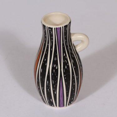 Kupittaan savi maljakko, käsinmaalattu, suunnittelija Atso Eskola, käsinmaalattu, pieni, retro
