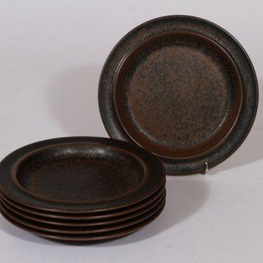 Arabia Ruska lautaset, pieni, 6 kpl, suunnittelija , pieni, pieni, ruskea lasite