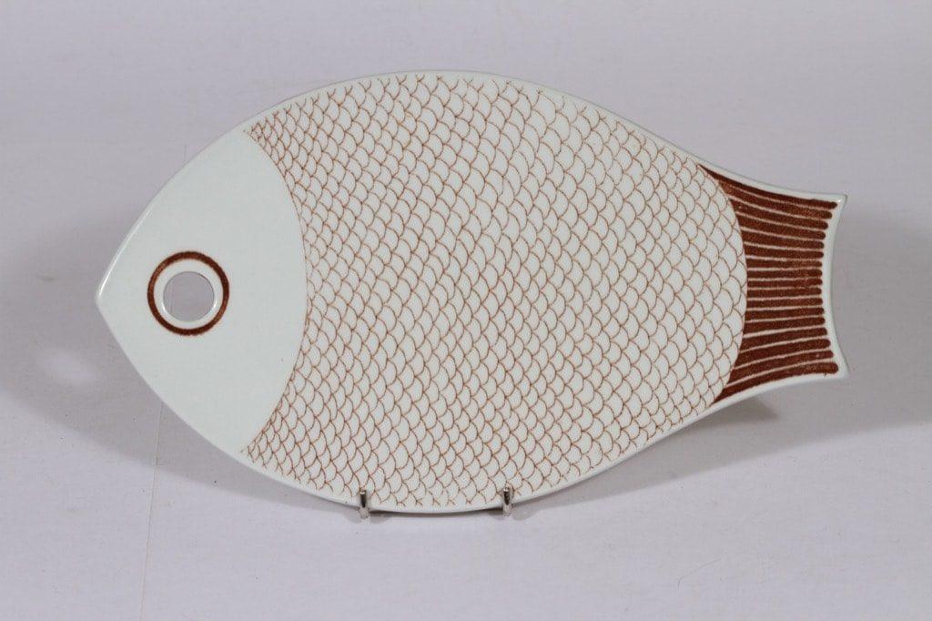 Arabia Kala talouslevy, kala-aihe, suunnittelija , kala-aihe, kuparipainokoriste