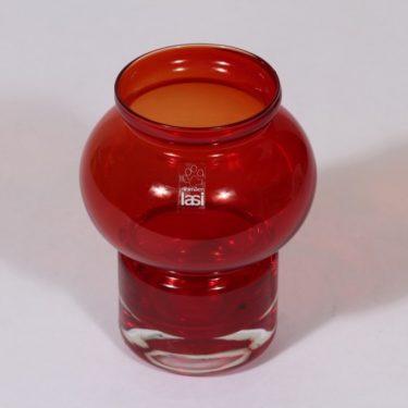 Riihimäen lasi Välkky tuikkulyhty, rubiininpunainen, suunnittelija Tamara Aladin, pieni