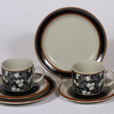 Arabia Taika teekupit ja lautaset, 2 kpl, suunnittelija , erikoiskoriste, retro
