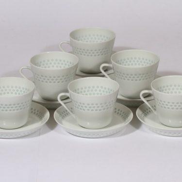 Arabia Helmi teekupit, riisiposliini, 6 kpl, suunnittelija , riisiposliini, massasigneerattu
