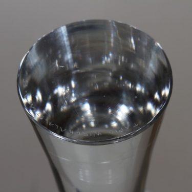 Iittala 3412 kynttilänjalka, kirkas, suunnittelija Tapio Wirkkala, signeerattu kuva 3