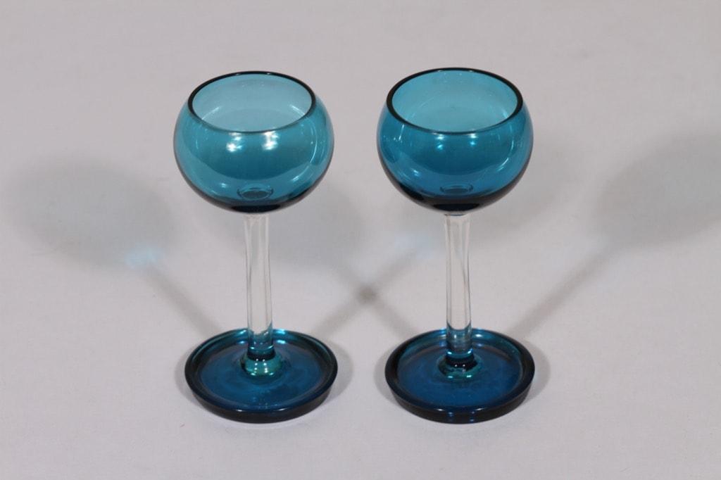 Riihimäen lasi Harlekiini liköörilasit, 3 cl, 2 kpl, suunnittelija Nanny Still, 3 cl, jalallinen