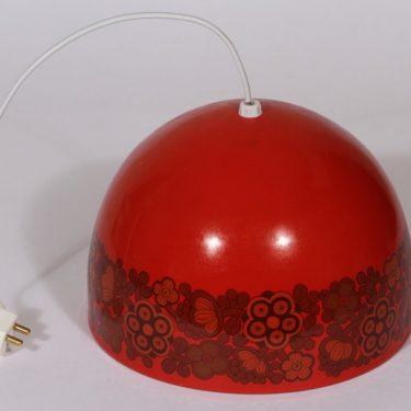 Finel Primavera kattovalaisin, punainen, suunnittelija Raija Uosikkinen, serikuva, retro