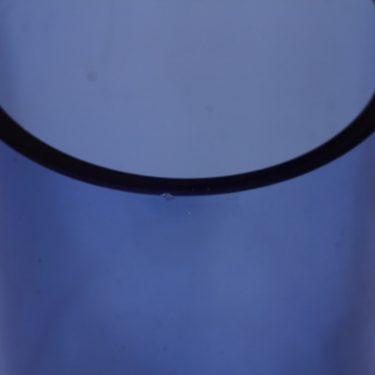 Riihimäen lasi Reimari maljakko, sininen, suunnittelija Tamara Aladin,  kuva 2