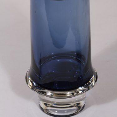Iittala 3581 maljakko, sininen, suunnittelija Tapio Wirkkala, signeerattu kuva 3