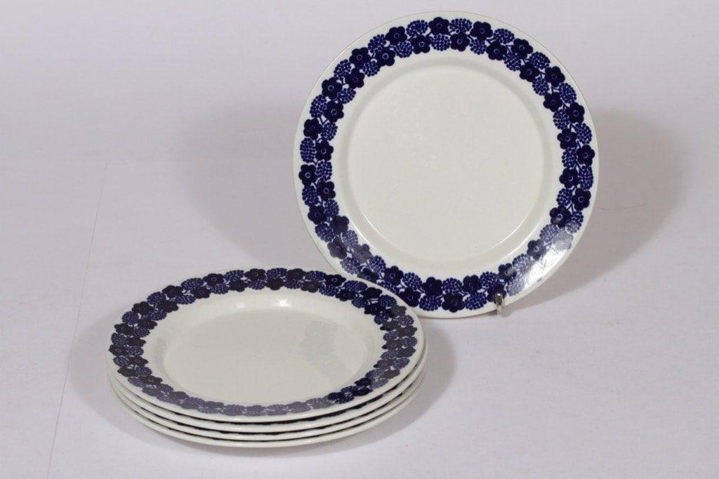 Arabia Rypäle lautaset, pieni, 5 kpl, suunnittelija , pieni, serikuva