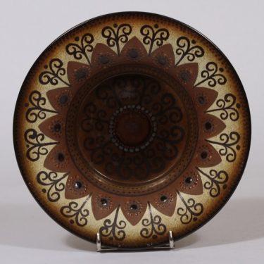 Arabia koristekulho, ruskea, suunnittelija Hilkka-Liisa Ahola, käsinmaalattu, signeerattu