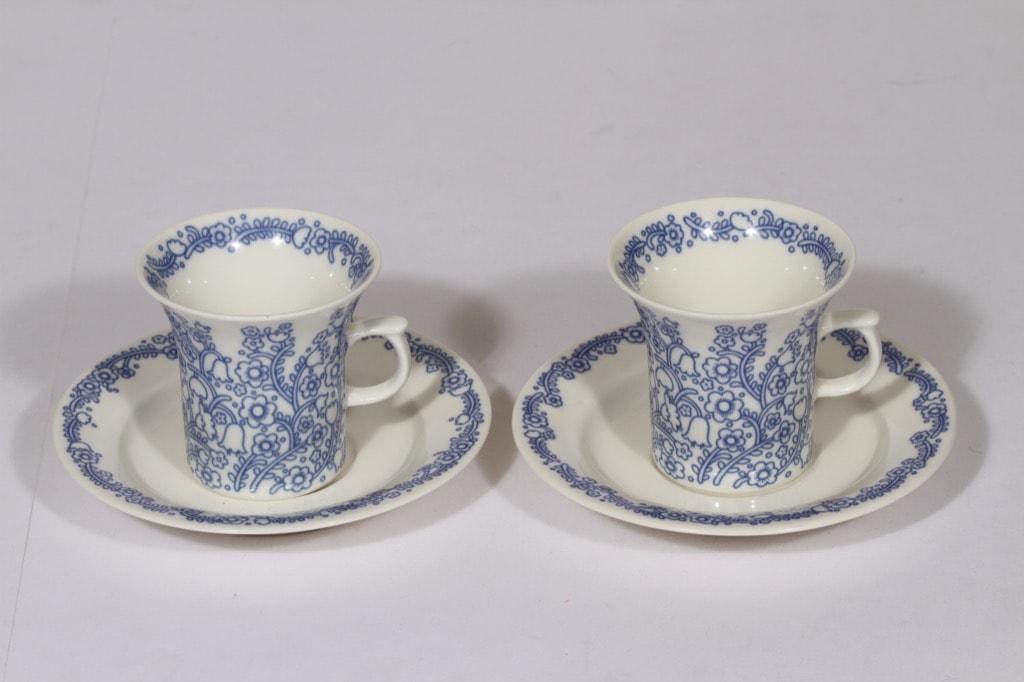 Arabia Anna kahvikupit, sininen, 2 kpl, suunnittelija , serikuva