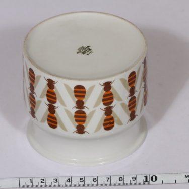 Arabia Pomona purnukka, hunaja, suunnittelija , hunaja, serikuva, retro kuva 2