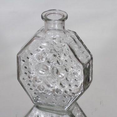 Riihimäen lasi Stella Polaris koristepullo, kirkas, suunnittelija Nanny Still,